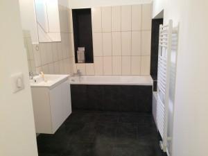 Faïence blanche 20x50 Carrelage noir 30x60