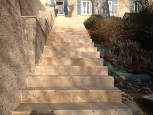 Escaliers droit Pierre naturelle 12mm